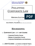 Corporation Law - Dean Cesar L. Villanueva
