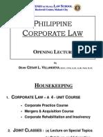 Corporation Law - Dean Cesar L. Villanueva