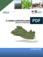 IV Censo Agropecuario - Resumen Nacional