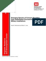 EmergingSpecies-UrbanEncroachment-Military Installations