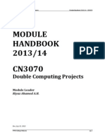 Degree Project - CN3070 Handbook 2013-14
