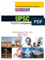 Download UPSC IAS Mains LAST 10 Year Papers English Compulsory