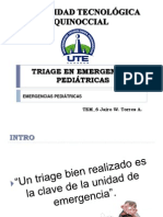 Ute Tem6 Jairo Torres - TRIAGE EN EMERGENCIAS PEDIÁTRICAS