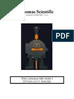 Thomas Model 4 Wiley Mill Manual
