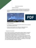 Contaminación atmosférica. Resumen