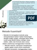 Penelitain Kuantitatif Materi Pembealan Homasps