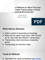 Distributed Video Transcoding project
