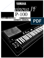 Manual Yamaha Clavinova P100
