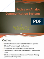 Effect of Noise on Analog Communication Systems