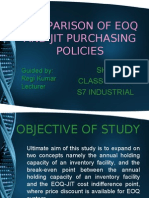 Comparison of Eoq and Jit Purchasing Policies