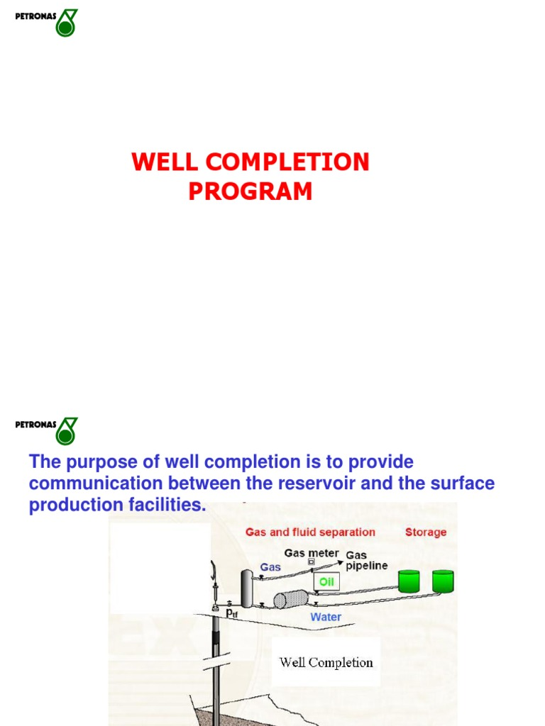 Well Completion PETRONAS | Fuel Production | Petroleum Reservoir