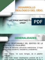 DESARROLLO EMBRIOLÓGICO DEL OÍDO