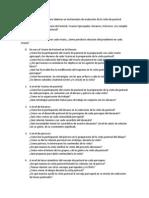 Propuestas para evaluación de la visita de pastoral