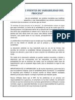 ANÁLISIS DE FUENTES DE VARIABILIDAD DEL PROCESO