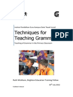 Module Techniques Teaching Grammar Facilitator