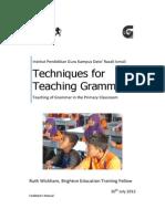 Module Techniques Teaching Grammar Facilitator