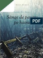 """Sânge de pasăre pe haine"" (fragment) - un roman de Liviu G. Stan"