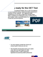 The OET Test - An Outline