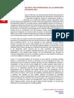 Manifiesto PSOE Dia Internacional de la eliminacion de la discriminación..