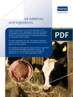 Animal Feed Additives and Ingredients Services Brochure