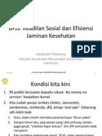 BPJS-Keadilan Dan Efisiensi Jaminan Kesehatan