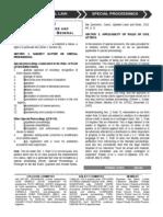 Memory Aid - 06 Special Proceedings
