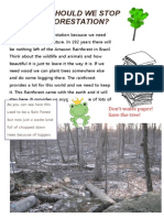 Why Should We Stop Deforestation