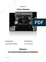 analysis of citizen watches