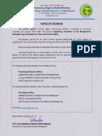 RHRC Notice of Vacancies