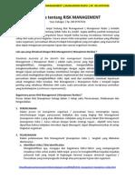 KONSULTAN RISK MANAGEMENT | MANAJEMEN RISIKO | HP. 08159767636