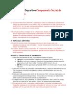 Reglamento Deportivo 2014
