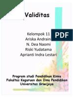 Validitas Kelompok 11 PDF