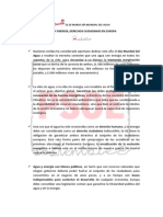 Manifiesto PSOE Día Mundial del Agua 2014