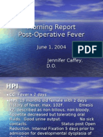 Postop Fever