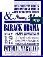 Intimate Dinner for Democratic Congressional Campaign Committee
