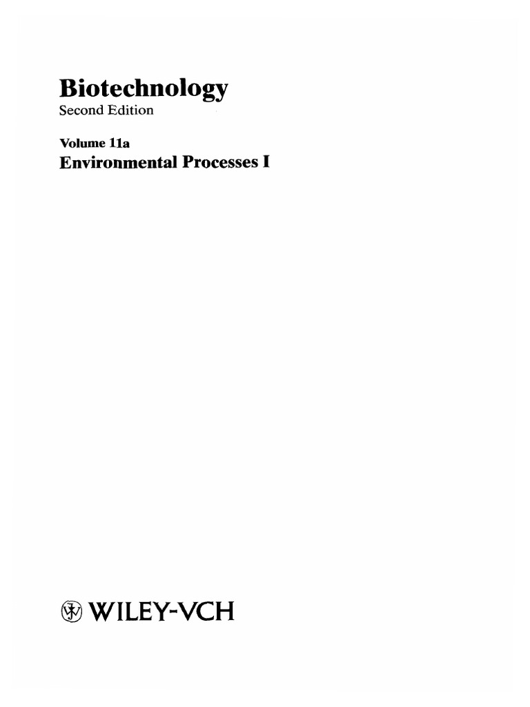 Biotechnology Vol 11a Waste Water Treatment