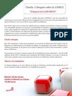 Charla-Coloquio Sobre La LOMCE 25-03-14