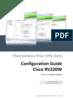 Cisco RV220-W VPN Router & GreenBow IPsec VPN Software Configuration