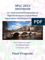 HPLC 2013 Amsterdam Program