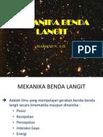 Mekanika Benda Langit - Gravitasi Universal Newton