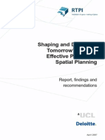 Shaping and Delivering Tomorrow's Places