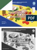 Tabla de Composicion de Alimentos Para Centroamerica Del INCAP