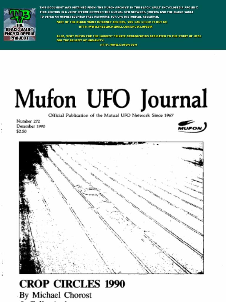 Mufon Ufo Journal Unidentified Flying Object Nature