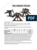 Imperial Knight Rules