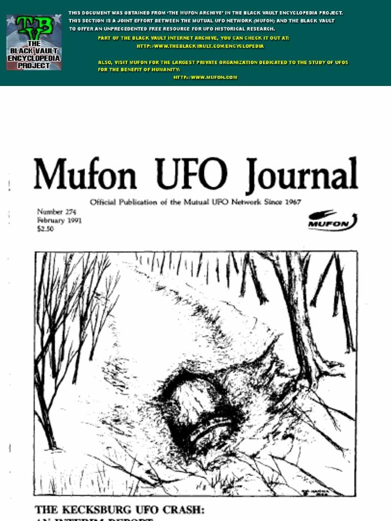 Mufon UFO Journal | Unidentified Flying Object | Conspiracy Theory