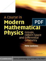 A Course in Modern Mathematical Physics