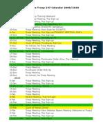 Troop 147 Calendar 2009-2010
