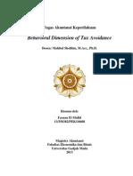 Tugas Behavioral Accounting - Tax Avoidance