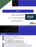 11_1 - Erros de Estado Estacionario - UTFPR