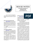 2014 House Notes Week Two